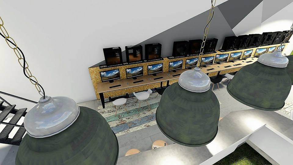 internet cafe, lounge cafe, playroom